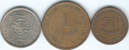 Cape Verde - Portuguese - 1968 - 50 Centavos (KM11) 1 Escudo (KM8) & 5 Escudos (KM12) - Cap Vert