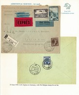 LUXEMBOURG BELGIUM COMBINATION COVER EXPRESS A.R. BERLIN GERMANY 1938 - Covers & Documents