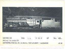 2 CP - Métropolitan SA Ch. De Mottieer 1052 LE MONT/ LAUSANNE (111918) - Trains