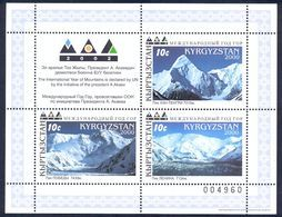 Kyrgyzstan 2000 Year Of Mountains. M/S** - Kirghizistan