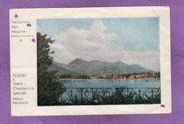 Tessera Di Libera Circolazione Speciale Navigazione Lago Maggiore - Billets D'embarquement De Bateau