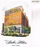 STATLER  HILTON    NEW YORK  CITY     TBE  US 336 - Cafés, Hôtels & Restaurants