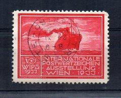 Austria - 1933 - ETICHETTA - ERINNOFILO - WIPA - Fiera Internazionale - Annullato - (FDC14628) - Erinnophilie