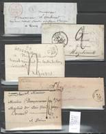 France - Lot De 11 Lettres Taxées - Entre 1795 Et 1855 - A SAISIR - Timbres