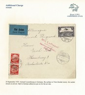 LUXEMBOURG GERMANY COMBINATION COVER AIR 1933 HAMBURG TRIER - Covers & Documents