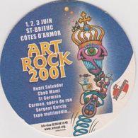 Sous Bock De Biere Commémoratif Art Rock 2001  ; Brasserie Kronenbourg 01/02/03/juin/2001 - Sous-bocks