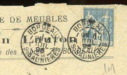 FRANCE - TYPE SAGE - N° Yvert 101 SUR ENVELOPPE (BORDEAUX 1895) - 1876-1898 Sage (Type II)
