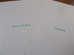Lot N° 345  Colonies Francaise REUNION ET MARTINIQUE Neufs** Ou Obl Sur Page D'albums .  No Paypal - Stamps