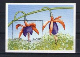 Zambie. Bloc Feuillet. Fleur - Zambie (1965-...)
