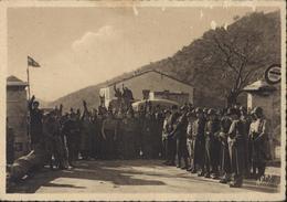 CPA 66 Les Nationalistes Au Poste Frontière Du Perthus Guerre D' Espagne Retirada Réfugiés Espagnols - Autres Communes