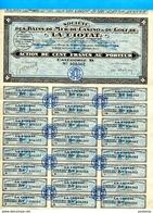 "ACTION- Illustrée -""CASINO"" De -la CIOTAT-1928 - Coupons Attachés-bel état - Casino"