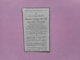 D.P.-ADJUDANT RETRAITEBde La GENDARMERIE-PRUDENT DE VOS°CAPRYKE 27-7-1868+MOLENBEEK-ST.JAN 4-1-1941 - Religion & Esotérisme