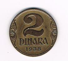 //  JOEGOSLAVIE  2  DINARA  1938 - Yougoslavie