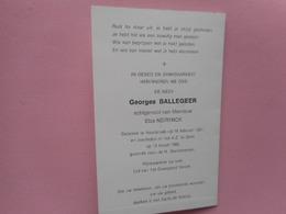 D.P.-RIJKSWACHTER OP RUST-GEORGES BALLEGEER°ASSEBROECK 16-2-1921+A.Z.GENT 19-3-1986 - Religion & Esotérisme