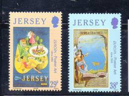 EUROPA JERSEY N° 1083/1084 **  - L'ART DE L'AFFICHE - Cote 3.50 € - 2003