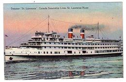 CPA Colorisée Canada Steamship Lines Paquebot Steamer St Lawrence River éditeur Greeting Card Co à Toronton°67 7 - Paquebots