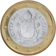 Vatikaanstad 2018   1 Euro   Met De Afbeelding WAPENSCHILD !!  Zeer Zeldzaam - Extréme Rare !!!! - Vaticaanstad