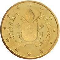 Vatikaanstad 2019   50 Cent   Met De Afbeelding WAPENSCHILD !!  Zeer Zeldzaam - Extréme Rare !!!! - Vatican