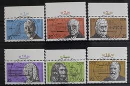 DDR, MiNr. 2603-2608, Oberränder, Gestempelt - Used Stamps