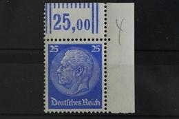 Deutsches Reich, MiNr. 522, Ecke Re. Oben, Postfrisch / MNH - Germany