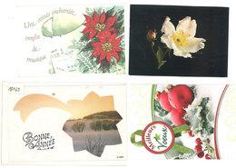 """4 Cartes """"Mignonettes"""" -  Bonne Année    (111931) - Fancy Cards"""