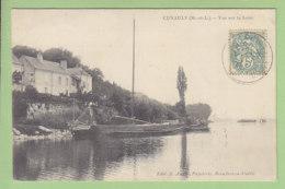 CUNAULT : Vue Sur La Loire. 2 Scans. Edition Auger - Francia