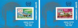 COMORES HOJAS BLOQUE SELLOS YVERT AEREO  110/11   MNH  ** - Comores (1975-...)