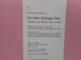 D.P.RIJKSWACHTER OP RUST-GEORGES VAEL °ZELE 11-3-1921+BRUGGE 9-9-1998 - Religion & Esotérisme