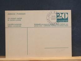 83/805   CP   SUISSE   OBL.  AVEC REPONSE - Interi Postali