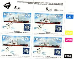 AFRIQUE DU SUD 1991 / Superbe Bloc 4 Valeurs Dentelées MNH - Schiffe