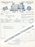 LIEGE - Facture Illustrée De 1946 - PHILIPS & Cie - Grande Manufacture De Cigares, Cigarillos Et Tabacs - Belgique