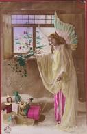 Joyeux Noel Angel Ange Engel  Kerstmis Christmas Jouets Jouet Pop Doll TEDDY BEAR Vrolijk Kerstfeest STEMPEL Wespelaer - Noël