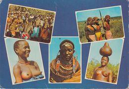 Kenia  East Afrika - Tribes - Massai Girls - Nude - 3x Nice Stamps - Kenia