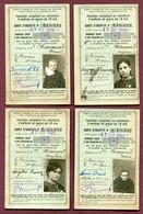 """SNCF : """" CHEMINS DE FER FRANCAIS - CARTES DE FAMILLE NOMBREUSE """"  1922  (Domrémy - Haute-Marne) - Titres De Transport"""