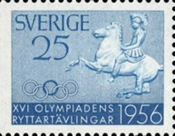 USED STAMPS Sweden - The Equestrian Olympics  -1956 - Suède