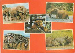 """Kenia  East Afrika - Animals - Elephant - Zebra - Lion - Nashorn - 2x Nice Stamps """"flowers"""" - Kenia"""