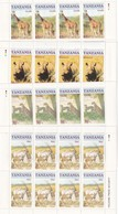 TANZANIE SERIE DE 4 VALEURS  THEME ANIMAUX DE LA BROUSSE - Tanzanie (1964-...)