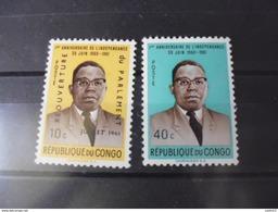 CONGO  YVERT N°430+432** - République Du Congo (1960-64)
