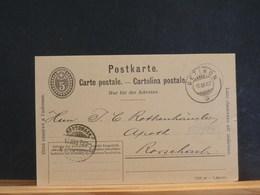 83/813   CP   SUISSE 1907 VERSO PIQUAGE PRIVE - Interi Postali