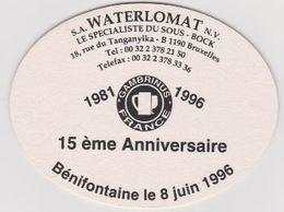 Sous Bock De Biere Commémoratif Gambrinus France   ; Brasserie Du CH'TI 1996 - Sous-bocks