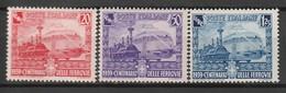 ITALIE - N°429/431 ** (1939) Chemins De Fer - 1900-44 Victor Emmanuel III