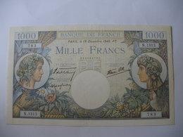 BILLET 1000 F COMMERCE   19/12/1940 FAY 39/3 - 1 000 F 1940-1944 ''Commerce Et Industrie''
