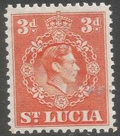 St Lucia. 1938-48 KGVI. 3d MH. P12½ SG 133a - St.Lucia (...-1978)
