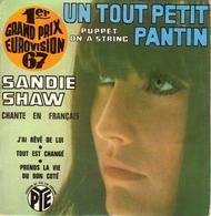 """SANDIE SHAW """"UN TOUT PETIT PANTIN - J'AI REVE DE LUI - PRENDS LA VIE DU BON COTE - TOUT EST CHANGE DISQUE VINYL 45 TOURS - Vinyles"""
