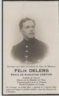 Soldat Belge ...Félix Delers , Médaillle De L'Yser, - Oorlog 1914-18