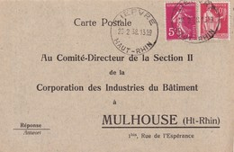 ALSACE-LORRAINE 1938 LETTRE DE LIEPVRE - Marcophilie (Lettres)