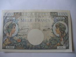 BILLET 1000 F COMMERCE   06/04/1944 FAY 39/5 - 1871-1952 Antiguos Francos Circulantes En El XX Siglo