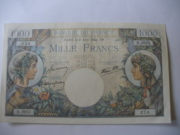 BILLET 1000 F COMMERCE   06/04/1944 FAY 39/5 - 1 000 F 1940-1944 ''Commerce Et Industrie''