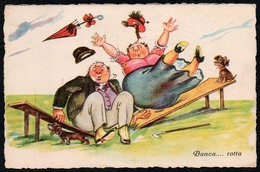8032 - TOP Humor Scherzkarte - Banca Rotta - Stampato - Humour
