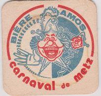 Sous Bock De Biere Commémoratif  ; Brasserie AMOS Carnaval De Metz - Sous-bocks
